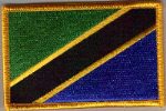 Tanzania Embroidered Flag Patch, style 08.